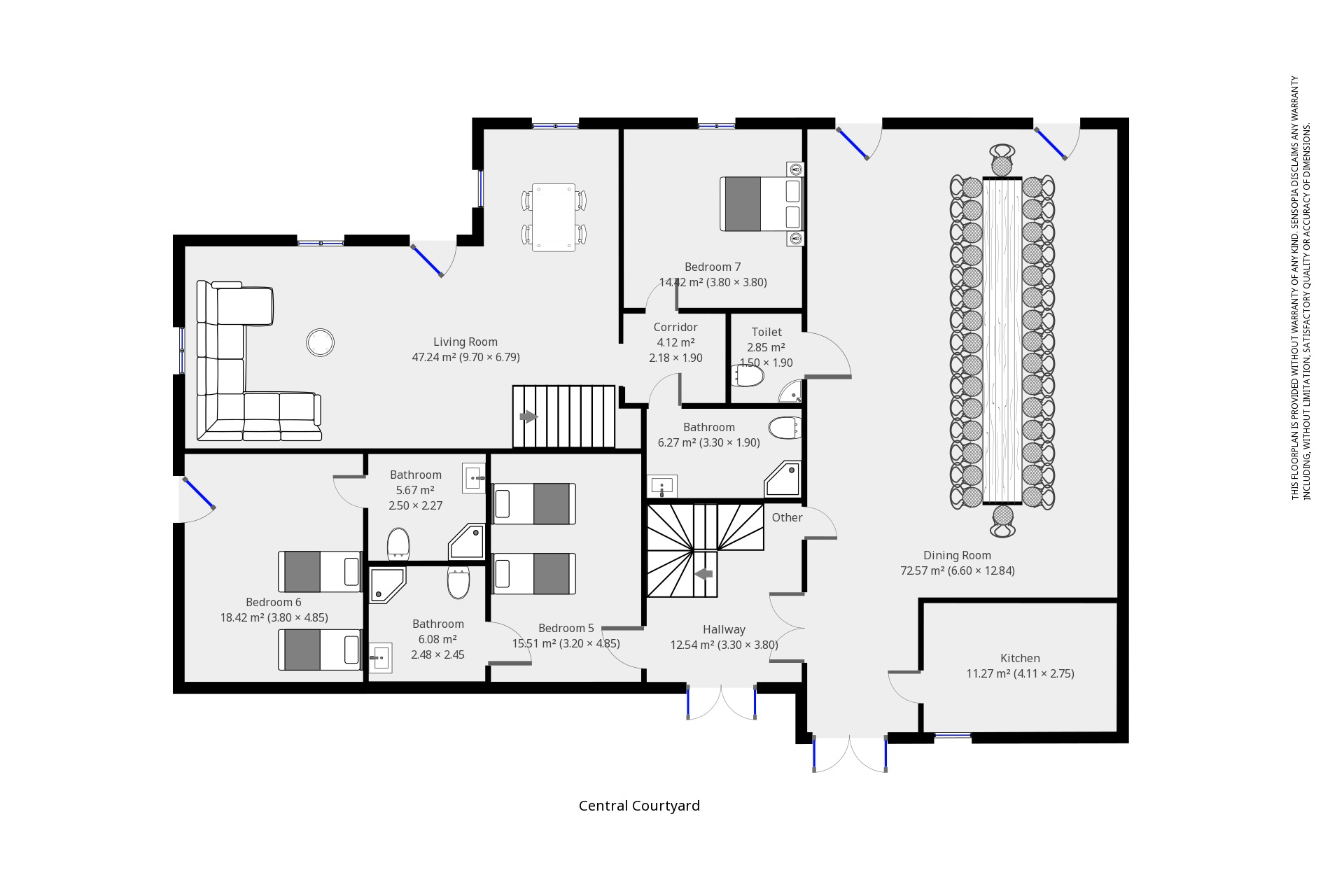 Leymeronnie Barn ground floor plan
